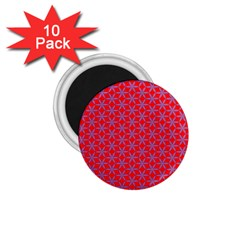 Flower Of Life Pattern Red Purle 1 75  Magnets (10 Pack)  by Cveti