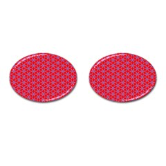 Flower Of Life Pattern Red Purle Cufflinks (oval) by Cveti