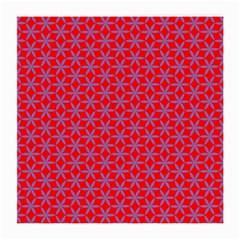 Flower Of Life Pattern Red Purle Medium Glasses Cloth (2 Side) by Cveti