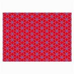 Flower Of Life Pattern Red Purle Large Glasses Cloth (2 Side) by Cveti