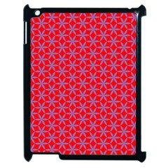 Flower Of Life Pattern Red Purle Apple Ipad 2 Case (black) by Cveti