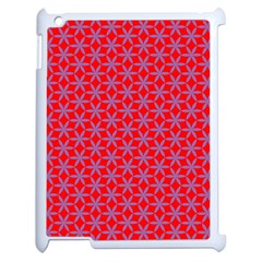 Flower Of Life Pattern Red Purle Apple Ipad 2 Case (white) by Cveti