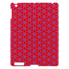 Flower Of Life Pattern Red Purle Apple Ipad 3/4 Hardshell Case by Cveti