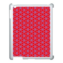 Flower Of Life Pattern Red Purle Apple Ipad 3/4 Case (white) by Cveti
