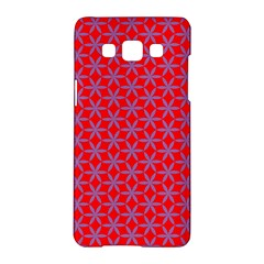 Flower Of Life Pattern Red Purle Samsung Galaxy A5 Hardshell Case  by Cveti