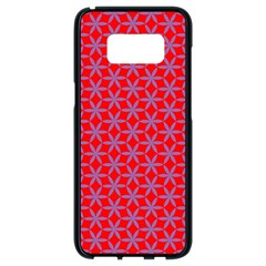 Flower Of Life Pattern Red Purle Samsung Galaxy S8 Black Seamless Case by Cveti