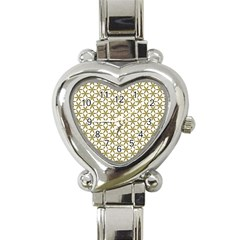 Flower Of Life Pattern Cold White Heart Italian Charm Watch by Cveti