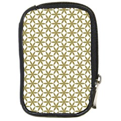 Flower Of Life Pattern Cold White Compact Camera Cases by Cveti