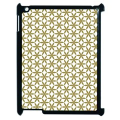 Flower Of Life Pattern Cold White Apple Ipad 2 Case (black) by Cveti