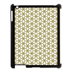 Flower Of Life Pattern Cold White Apple Ipad 3/4 Case (black) by Cveti
