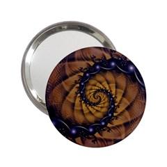 An Emperor Scorpion s 1001 Fractal Spiral Stingers 2 25  Handbag Mirrors by jayaprime
