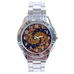 An Emperor Scorpion s 1001 Fractal Spiral Stingers Stainless Steel Analogue Watch by jayaprime