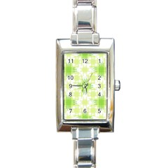 Intersecting Lines Pattern Rectangle Italian Charm Watch by dflcprints