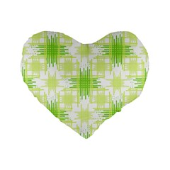 Intersecting Lines Pattern Standard 16  Premium Flano Heart Shape Cushions