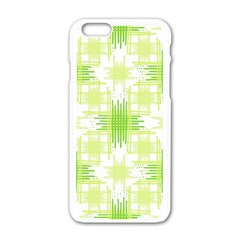 Intersecting Lines Pattern Apple Iphone 6/6s White Enamel Case by dflcprints