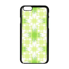 Intersecting Lines Pattern Apple Iphone 6/6s Black Enamel Case by dflcprints