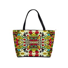 Chicken Monkeys Smile In The Floral Nature Looking Hot Shoulder Handbags by pepitasart