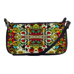 Chicken Monkeys Smile In The Floral Nature Looking Hot Shoulder Clutch Bags by pepitasart