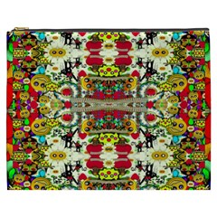 Chicken Monkeys Smile In The Floral Nature Looking Hot Cosmetic Bag (xxxl)  by pepitasart
