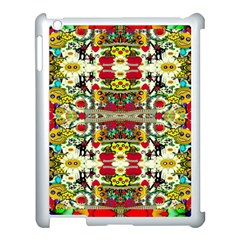 Chicken Monkeys Smile In The Floral Nature Looking Hot Apple Ipad 3/4 Case (white) by pepitasart