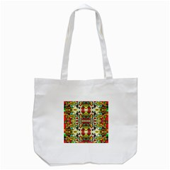 Chicken Monkeys Smile In The Floral Nature Looking Hot Tote Bag (white) by pepitasart