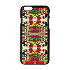 Chicken Monkeys Smile In The Floral Nature Looking Hot Apple Iphone 6/6s Black Enamel Case by pepitasart