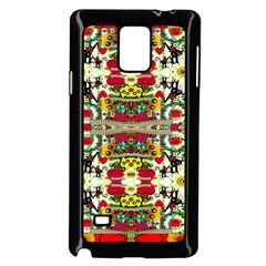 Chicken Monkeys Smile In The Floral Nature Looking Hot Samsung Galaxy Note 4 Case (black) by pepitasart