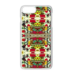 Chicken Monkeys Smile In The Floral Nature Looking Hot Apple Iphone 8 Plus Seamless Case (white)