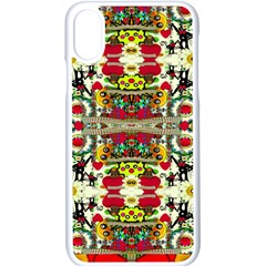 Chicken Monkeys Smile In The Floral Nature Looking Hot Apple Iphone X Seamless Case (white)
