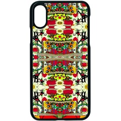Chicken Monkeys Smile In The Floral Nature Looking Hot Apple Iphone X Seamless Case (black) by pepitasart