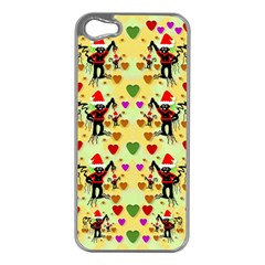 Santa With Friends And Season Love Apple Iphone 5 Case (silver) by pepitasart