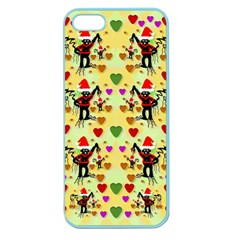Santa With Friends And Season Love Apple Seamless Iphone 5 Case (color) by pepitasart