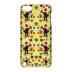 Santa With Friends And Season Love Apple Ipod Touch 5 Hardshell Case With Stand by pepitasart