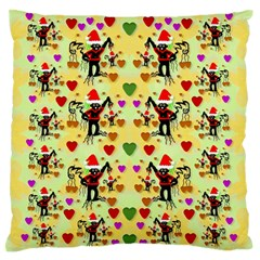 Santa With Friends And Season Love Standard Flano Cushion Case (one Side)
