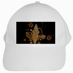Hawaiian, Tropical Design With Surfboard White Cap by FantasyWorld7