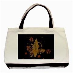 Hawaiian, Tropical Design With Surfboard Basic Tote Bag by FantasyWorld7