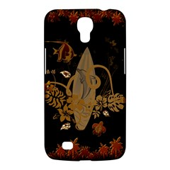 Hawaiian, Tropical Design With Surfboard Samsung Galaxy Mega 6 3  I9200 Hardshell Case by FantasyWorld7