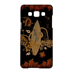 Hawaiian, Tropical Design With Surfboard Samsung Galaxy A5 Hardshell Case  by FantasyWorld7