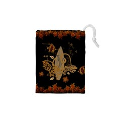 Hawaiian, Tropical Design With Surfboard Drawstring Pouches (xs)  by FantasyWorld7