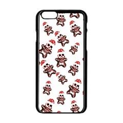 Gingerbread Skeleton Apple Iphone 6/6s Black Enamel Case by Roxzanoart