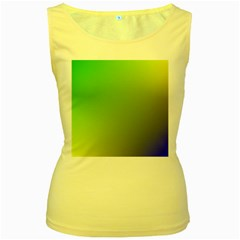 Pattern Women s Yellow Tank Top by gasi