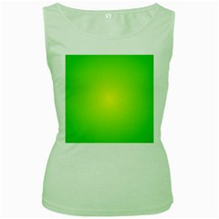 Pattern Women s Green Tank Top by gasi