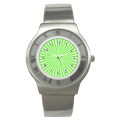 Pattern Stainless Steel Watch