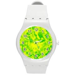 Pattern Round Plastic Sport Watch (m) by gasi