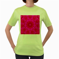 Pattern Women s Green T Shirt by gasi
