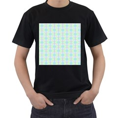 Pattern Men s T Shirt (black) (two Sided) by gasi
