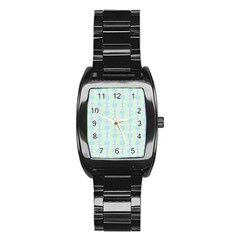 Pattern Stainless Steel Barrel Watch by gasi