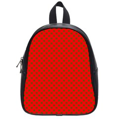 Green Christmas Stars On Festive Red School Bag (small) by Beachlux