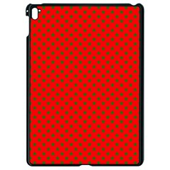 Green Christmas Stars On Festive Red Apple Ipad Pro 9 7   Black Seamless Case