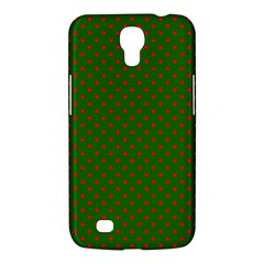 Red Stars On Christmas Green Background Samsung Galaxy Mega 6 3  I9200 Hardshell Case by PodArtist